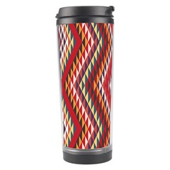 Indian Pattern Sweet Triangle Red Orange Purple Rainbow Travel Tumbler by Alisyart