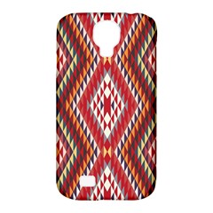 Indian Pattern Sweet Triangle Red Orange Purple Rainbow Samsung Galaxy S4 Classic Hardshell Case (pc+silicone) by Alisyart