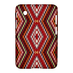 Indian Pattern Sweet Triangle Red Orange Purple Rainbow Samsung Galaxy Tab 2 (7 ) P3100 Hardshell Case  by Alisyart