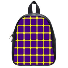 Optical Illusions Circle Line Yellow Blue School Bags (small)  by Alisyart