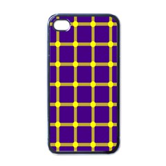 Optical Illusions Circle Line Yellow Blue Apple Iphone 4 Case (black)
