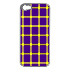 Optical Illusions Circle Line Yellow Blue Apple Iphone 5 Case (silver)