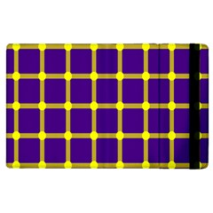 Optical Illusions Circle Line Yellow Blue Apple Ipad 2 Flip Case by Alisyart