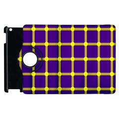 Optical Illusions Circle Line Yellow Blue Apple Ipad 2 Flip 360 Case by Alisyart