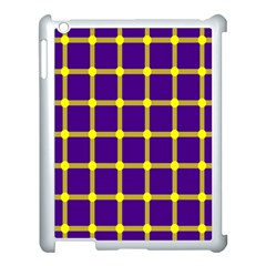 Optical Illusions Circle Line Yellow Blue Apple Ipad 3/4 Case (white)