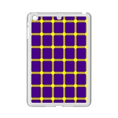 Optical Illusions Circle Line Yellow Blue Ipad Mini 2 Enamel Coated Cases