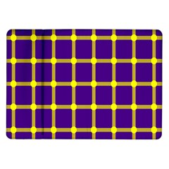 Optical Illusions Circle Line Yellow Blue Samsung Galaxy Tab 10 1  P7500 Flip Case