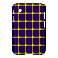 Optical Illusions Circle Line Yellow Blue Samsung Galaxy Tab 2 (7 ) P3100 Hardshell Case  by Alisyart