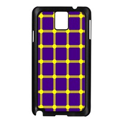Optical Illusions Circle Line Yellow Blue Samsung Galaxy Note 3 N9005 Case (black) by Alisyart