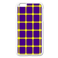 Optical Illusions Circle Line Yellow Blue Apple Iphone 6 Plus/6s Plus Enamel White Case by Alisyart