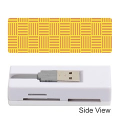 Plaid Line Orange Yellow Memory Card Reader (stick)