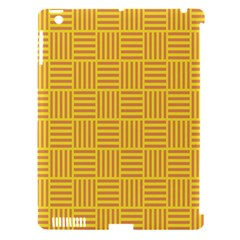 Plaid Line Orange Yellow Apple Ipad 3/4 Hardshell Case (compatible With Smart Cover) by Alisyart