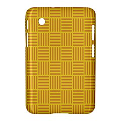Plaid Line Orange Yellow Samsung Galaxy Tab 2 (7 ) P3100 Hardshell Case  by Alisyart