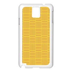 Plaid Line Orange Yellow Samsung Galaxy Note 3 N9005 Case (white) by Alisyart
