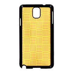 Plaid Line Orange Yellow Samsung Galaxy Note 3 Neo Hardshell Case (black)
