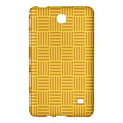 Plaid Line Orange Yellow Samsung Galaxy Tab 4 (8 ) Hardshell Case  by Alisyart