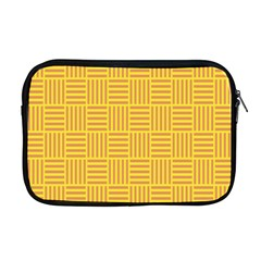 Plaid Line Orange Yellow Apple Macbook Pro 17  Zipper Case by Alisyart