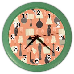 Lamps Color Wall Clocks