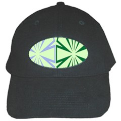 Starburst Shapes Large Green Purple Black Cap by Alisyart