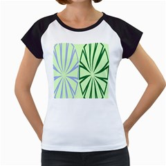 Starburst Shapes Large Green Purple Women s Cap Sleeve T by Alisyart