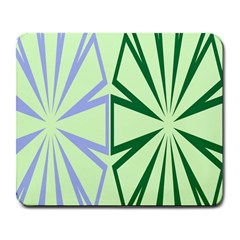 Starburst Shapes Large Green Purple Large Mousepads
