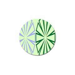 Starburst Shapes Large Green Purple Golf Ball Marker (4 Pack) by Alisyart