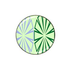 Starburst Shapes Large Green Purple Hat Clip Ball Marker (4 Pack) by Alisyart