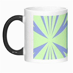 Starburst Shapes Large Green Purple Morph Mugs