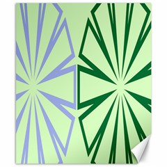 Starburst Shapes Large Green Purple Canvas 8  X 10  by Alisyart