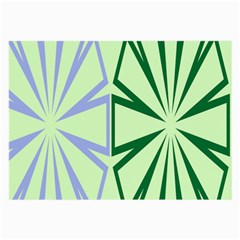 Starburst Shapes Large Green Purple Large Glasses Cloth (2 Side)