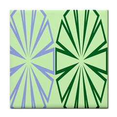 Starburst Shapes Large Green Purple Face Towel