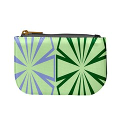 Starburst Shapes Large Green Purple Mini Coin Purses