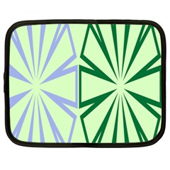 Starburst Shapes Large Green Purple Netbook Case (xl)  by Alisyart