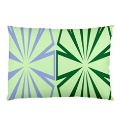 Starburst Shapes Large Green Purple Pillow Case (two Sides) by Alisyart