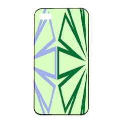 Starburst Shapes Large Green Purple Apple Iphone 4/4s Seamless Case (black) by Alisyart