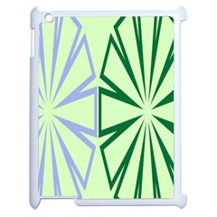 Starburst Shapes Large Green Purple Apple Ipad 2 Case (white) by Alisyart