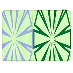 Starburst Shapes Large Green Purple Samsung Galaxy Tab 7  P1000 Flip Case