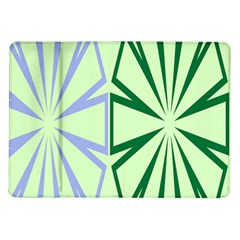 Starburst Shapes Large Green Purple Samsung Galaxy Tab 10 1  P7500 Flip Case