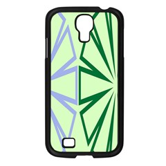 Starburst Shapes Large Green Purple Samsung Galaxy S4 I9500/ I9505 Case (black)