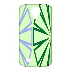 Starburst Shapes Large Green Purple Samsung Galaxy S4 Classic Hardshell Case (pc+silicone)