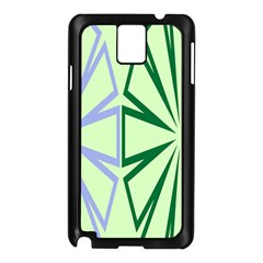 Starburst Shapes Large Green Purple Samsung Galaxy Note 3 N9005 Case (black)