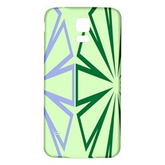 Starburst Shapes Large Green Purple Samsung Galaxy S5 Back Case (white) by Alisyart