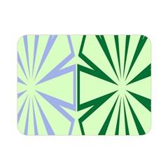 Starburst Shapes Large Green Purple Double Sided Flano Blanket (mini)