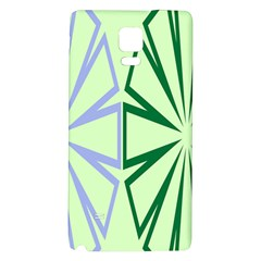 Starburst Shapes Large Green Purple Galaxy Note 4 Back Case by Alisyart