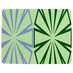 Starburst Shapes Large Green Purple Jigsaw Puzzle Photo Stand (rectangular)