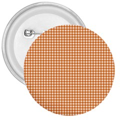 Orange Tablecloth Plaid Line 3  Buttons by Alisyart