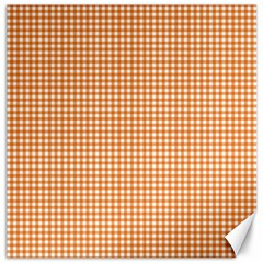Orange Tablecloth Plaid Line Canvas 20  X 20   by Alisyart