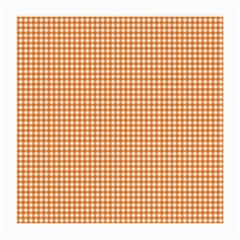 Orange Tablecloth Plaid Line Medium Glasses Cloth (2-side) by Alisyart