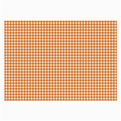 Orange Tablecloth Plaid Line Large Glasses Cloth (2 Side) by Alisyart