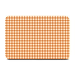 Orange Tablecloth Plaid Line Plate Mats by Alisyart